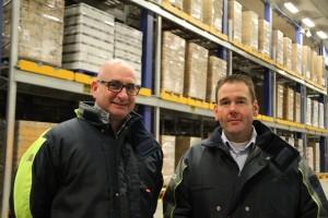 """Peter Bryssinck (l) en Simon Verburg van Partner Logistics: """"Verladers zijn tegenwoordig op zoek naar één partner voor al hun logistieke activiteiten, zowel warehousing als transport"""