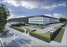 Impressie van het toekomstige distributiecentrum van de Bijenkorf in Tilburg. Foto: HVBM Vastgoed.