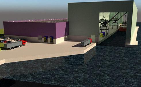 Acelor Mittal bouwt eerste Gentse overdekte laadkade.