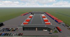 Schets nieuwe situatie Rabelink Logistics A18 Bedrijvenpark.