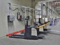 Li-Ion grondtransportbanden worden opgeladen bij Dachser cross docking hall.
